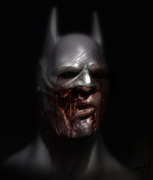 The Goddamn Batman needs your brains citizen! Gruesome 3D modeling by artist Tom Lishman. Check out more in his impressive gallery. Zombie Batman by Tom Lishman (deviantART) (Twitter)
