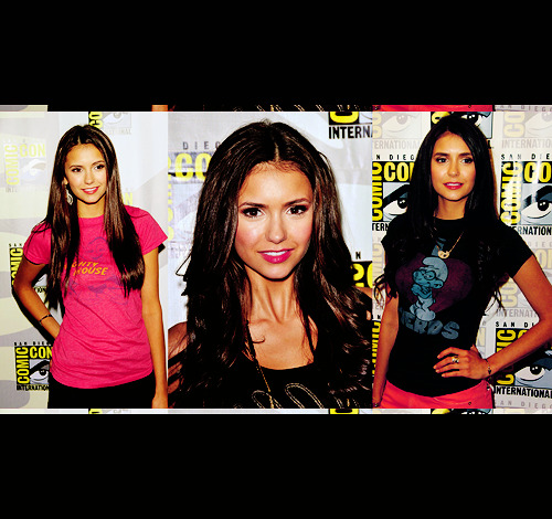 Nina Dobrev at Comic Con 2009-2011