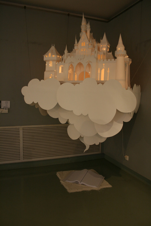 e-pic:  paper castle lamp  How cool is this lamp?