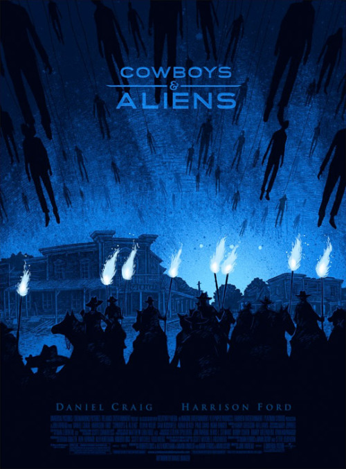 fuckyeahmovieposters:   Cowboys & Aliens by Daniel Danger (via)
