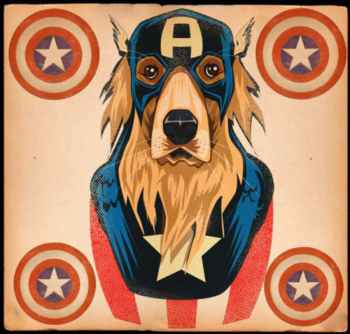jtojto:  CAPTAIN GOLDEN AMERICA RETRIEVER by JTO