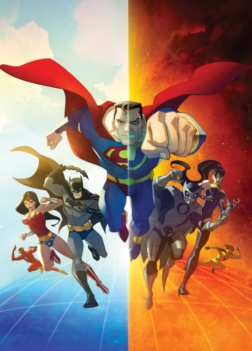 Justice League: Crisis on Two Earths Cover Art by Dusty Abell, Joshua Middleton & Phil Bourassa