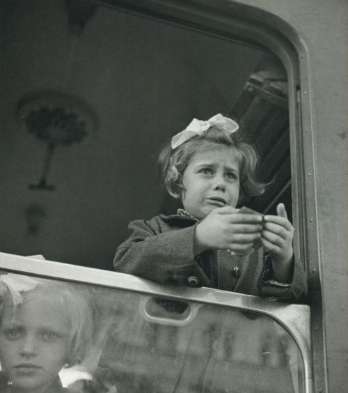 liquidnight:  Werner Bischof Girl at the train window Budapest, Hungary, 1947 From Werner Bischof Pictures