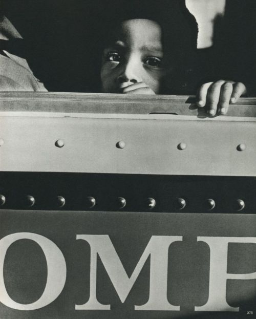 Werner Bischof Boy on a bus, New York City, USA, 1953 From Werner Bischof Pictures Thanks to liquidnight