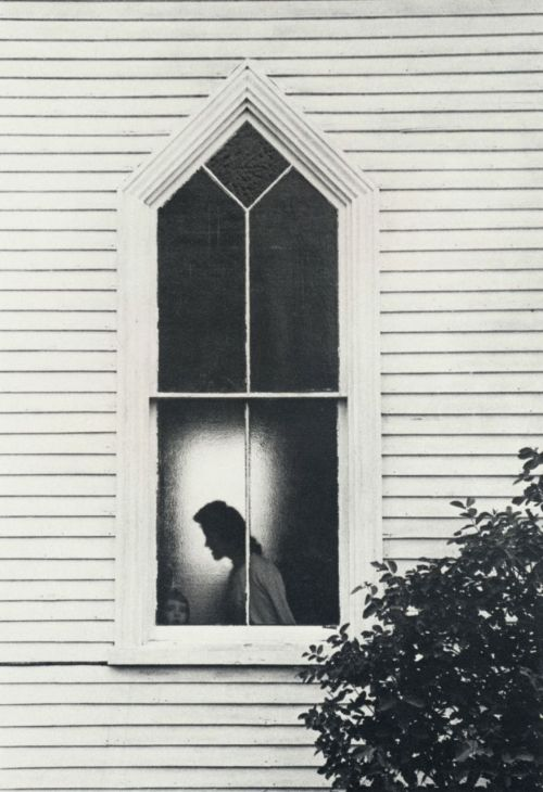 liquidnight:  George Krause Church window Maine, 1963 From George Krause-1