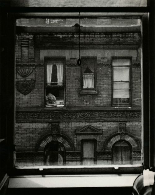 liquidnight:  Jerome Liebling Woman at Window New York City, 1947 From Jerome Liebling: Photographs