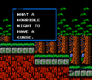 oldgaptooth:  Simon's Quest only an NES game could be this gramatically awkward  Things you shouldn't say on a date!