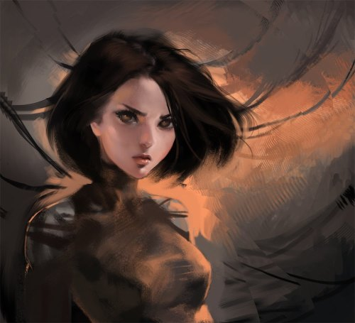 Old battle Angel Alita art > w< !!! I love her so much.