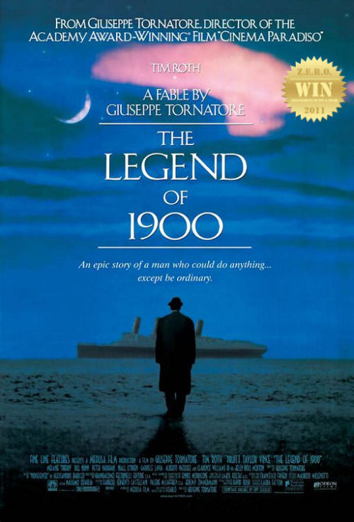 "The Legend of 1900 (1998) aka La leggenda del pianista sull'oceano Shortly after the Second World War, Max, a transplanted American, visits  an English pawn shop to sell his trumpet. The shopkeeper recognizes the  tune Max plays as one on a wax master of an unreleased recording,  discovered and restored from shards found in a piano salvaged from a  cruise ship turned hospital ship, now slated for demolition. This chance  discovery prompts a story from Max, which he relates both to the  shopkeeper and later to the official responsible for the doomed vessel,  for Max is a born storyteller. Though now down on his luck and  disillusioned by his wartime experiences, the New Orleans-born Max was  once an enthusiastic and gifted young jazz musician, whose longest gig  was several years with the house band aboard the Virginian, a posh  cruise ship. While gaining his sea legs, he was befriended by another  young man, the pianist in the same band, whose long unlikely name was  Danny Boodman T.D… Words cannot describe how much I LOVE THIS FILM. This re-visit was greatly appreciated. The music, the acting, the vision and the story - All modern cinema gems. This was BEAUTIFUL in so many ways. Poetic and emotionally crushing.  From the visionary eye of Spanish director Giuseppe Tornatore. Who gave us the dramatic and stunning Cinema Paradiso (1988) and Malèna (2000). His flare for drama is spot-on, making every film effort into a brilliant piece of cinema. Tim Roth, Tim Roth, Tim Fucking Roth! Man o man, he was spectacular!!! His performance was at such a great level he pulled everyone together and infected them, making this one of the best cast films ever! Brilliant from extras to supporting. Can you feel the energy? It was definitely captivating. Goddamn that face-off with Clarence Williams III BLEW MY MIND, the 1st time i caught this film. It definitely made me want to smoke, well done and mesmerizing. It's hard to believe i caught this film ""by chance"" (one later night) on some foreign cable network. I believe it was ""love at first sight/sound"". An uplifting masterpiece for all to see! If you haven't had the pleasure, grab a copy now."