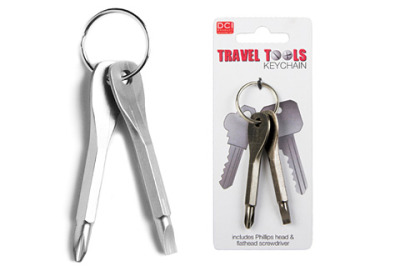 Travel Tools Keys Always a screwdriver at hand. Very useful if you ask me!