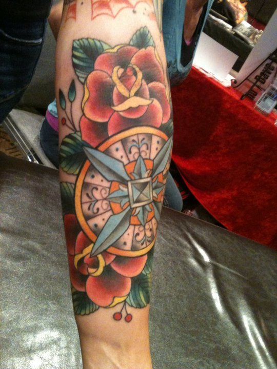 Dave Kruseman compass #tattoo (Hagerstown, Maryland)