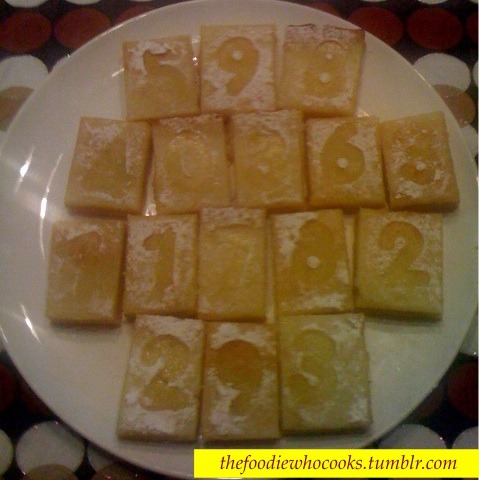 Lemon Squares/bars. My kids love these!