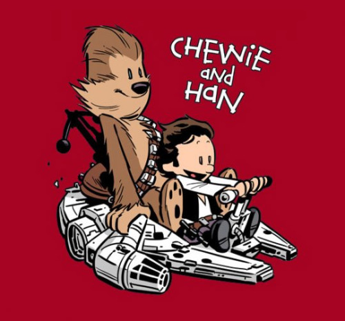 geekmythology:  (via If Chewie & Han were Calvin & Hobbes… | ForeverGeek)
