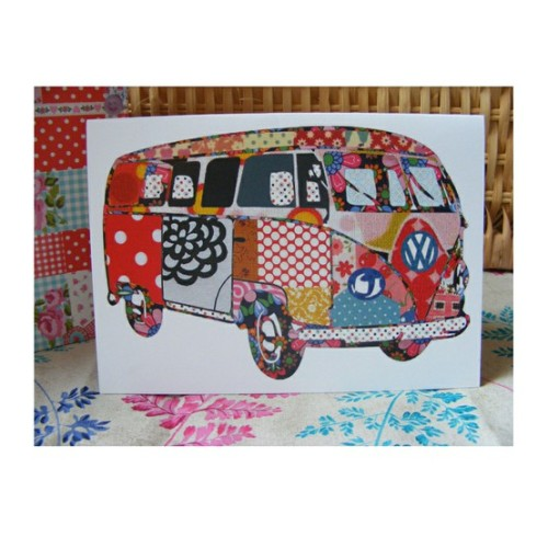 truebluemeandyou:  Patchwork Camper Van. From Tula Moon here. Wish I could see the original. Love this.