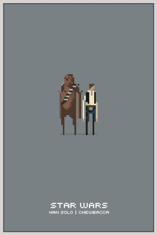 Star Wars Pixel Posters by Michael B. Myers Jr.