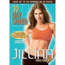 30 day shred with Jillian.  One month before school starts and it's crunch time. Workout 1 - DONE