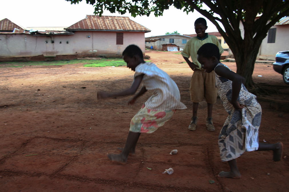 "Games in GhanaTumatu (tu-mah-tu), means ""jump and let's jump"", is one the childhood games that brought us joy in difficult times. You don't much (equipment/$$) to play unlike most Western games."
