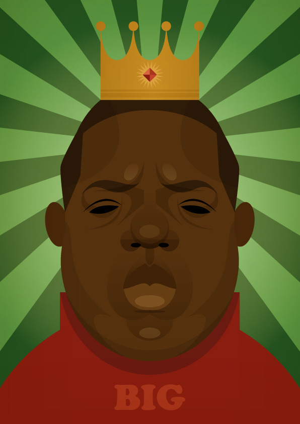 stanleychowillustration:  The Notorious B.I.G. print.
