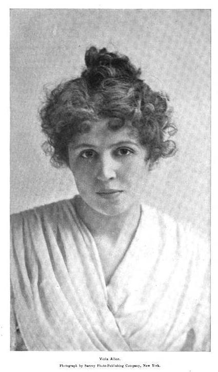 Miss Viola Allen leading lady of the Empire Theatre Stock Company.
