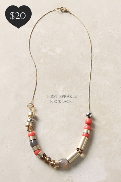 Anthropologie First Sprakle Necklace