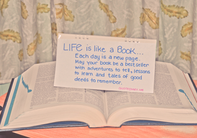 Life is like a Book…