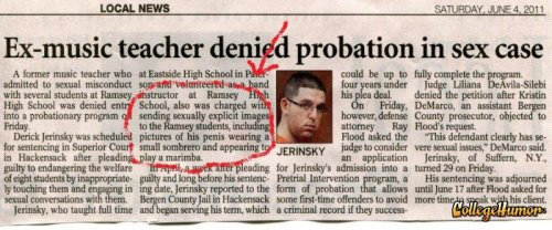 Teacher Horrible at Sexting Students This was also an alternate ending to Dead Poets Society.