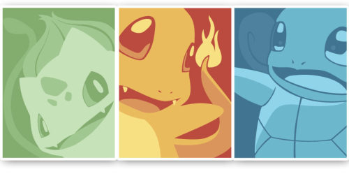 The Original 3 My minimal-ish pokemon poster set is now available for pre-order!  Only 75 sets being made, and there's only ~40 left!  These will not be re-printed get them before they are gone!  They will be numbered and signed on the back.  Shipping mid August.