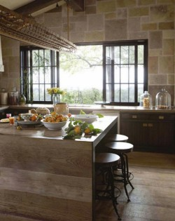 Natural, rustic kitchen…