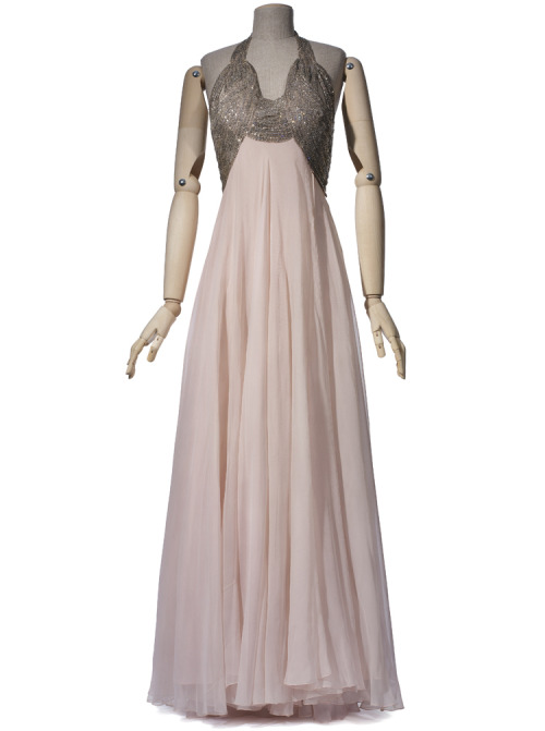 A beaded summer evening gown by Vionnet, 1938.