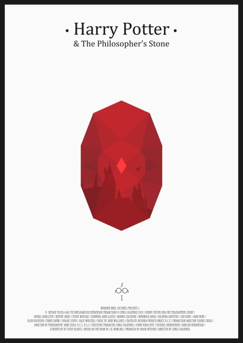 minimalmovieposters:  Harry Potter and the Philosopher's Stone by Mads Hindhede