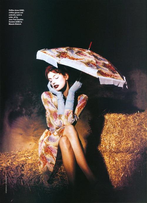 Elle UK, ~1995 photographer: Dominique Issermann Sybil Buck in Gaultier the Fashion Spot - Dominique Issermann - Photographer // maliciousglamour