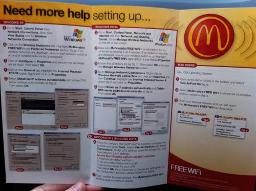 benkessler:  [Click to Enlarge] Windows v. Mac at McDonald's. /via Josh Helfferich