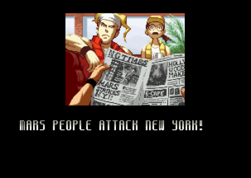 Mars People's ending from SNK vs Capcom: SVC Chaos.