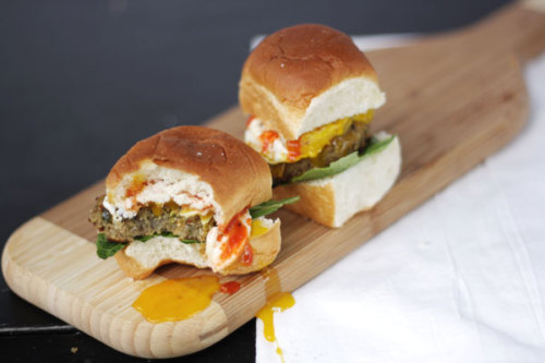 Quinoa Burger Sliders