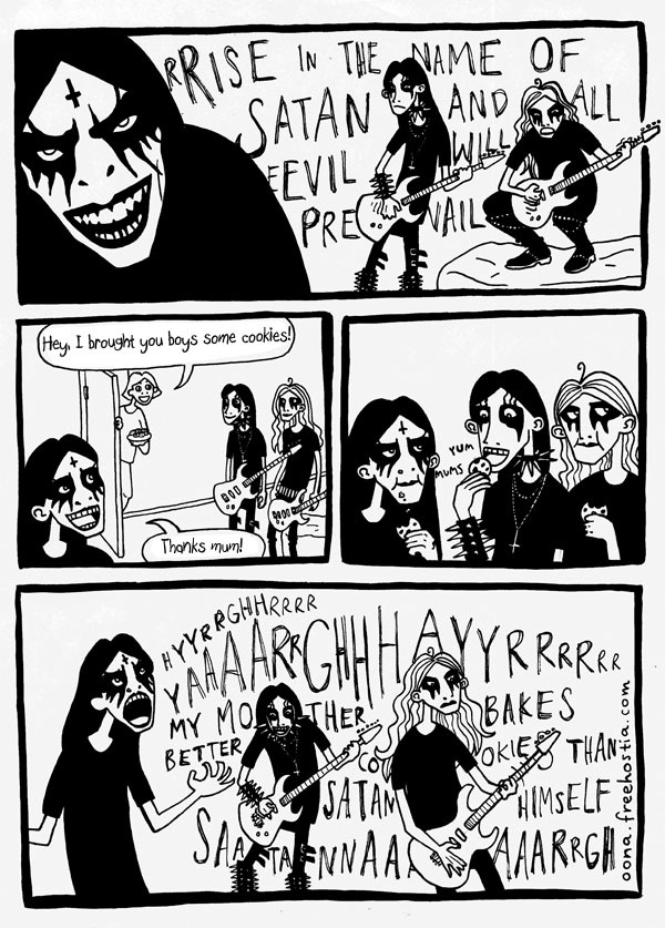 gothiccharmschool:  Hee! This is adorable. madziontist:  awww metalheads C: