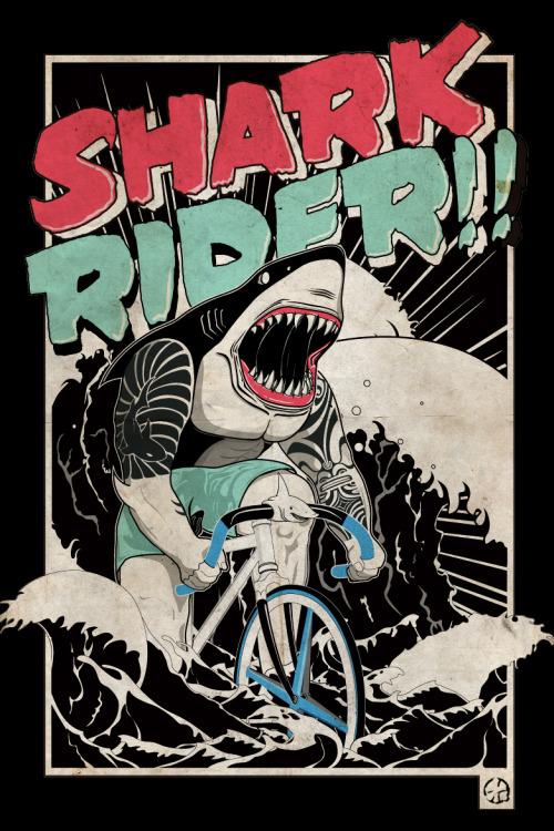 Yeah sure, if I was a shark I'd choose to be riding a fixie too.