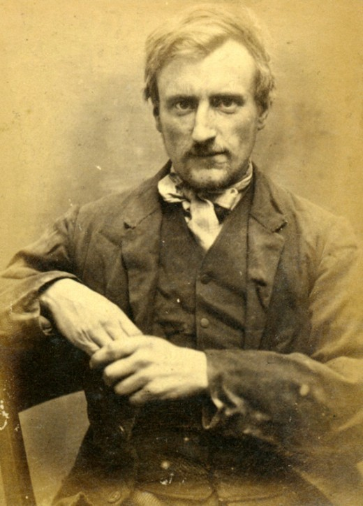 "ca. 1871-73, ""William Hill, 28, convicted of stealing champagne, sentenced to 6 months"", Newcastle criminal mugshots via How to be a Retronaut from Tyne and Wear Archives and Museums"