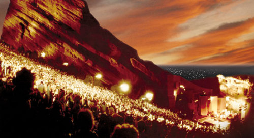 Red Rocks Amphitheater, the most beautiful concert venue in the USA.. no, the world! and it's just outside Denver