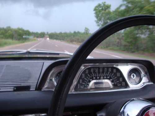 Driving on a rainy day in Darwin