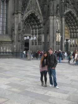 a photo of us in front of the Cologne Dome!