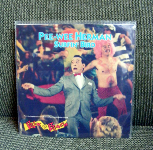 "Rare Pee-wee Herman Record Surfin Bird 7"" (1987) Available HERE."