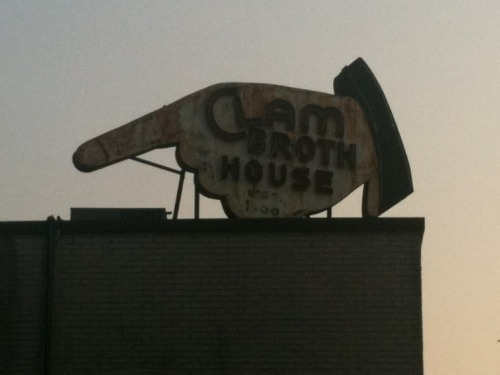 andyhh:  July 20 Clam Broth House, Hoboken NJ  i walked past this today and was actually going to take a picture of it but decided not to. DAMN IT!