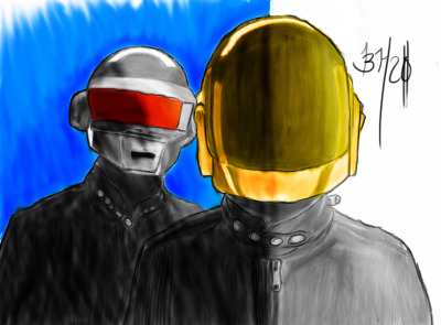 daft punk. i do a lot of pictures like this. so check out my channel. love some feedback. thanks.