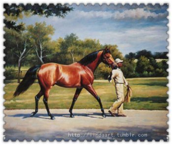 "Racehorse Oil Painting  Racehorse. Racehorses are fascinating, especially winners in well-known competition. I watched the film"" Dreamer"" last night, was deeply touched. Hey my friend, How are you? I hope you're getting better and better. —To one my client P, she raises a beautiful racehorse. Unfortunately she's got a brain tumor last year.  Hope she can get through all these. God bless her!!  Racehorse, oil on canvas, handpainted—not printing, (If you are interested in it, inquiry price at xiamen1986@gmail.com)"