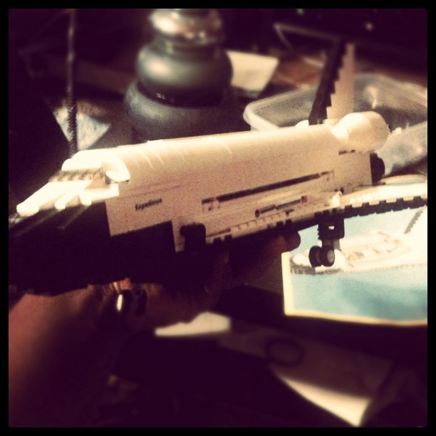 @rhettg and I are building our first space shuttle. This trumps whatever you did this weekend.  (Taken with Instagram at Minna Street)