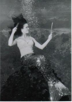 Barbara Wynns as a mermaid in the 1960s