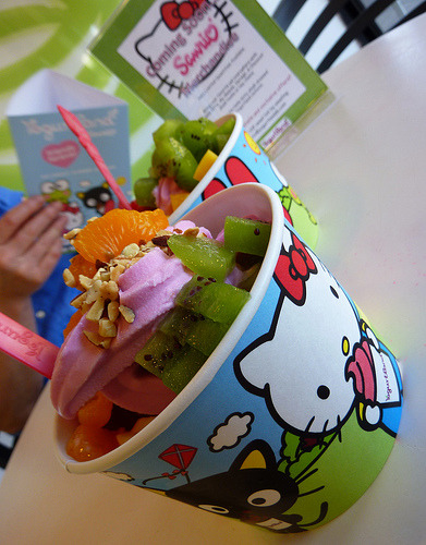 Hello Kitty x Yogurtland