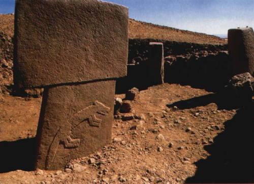 A megalithic monument found at Göbekli Tepe.