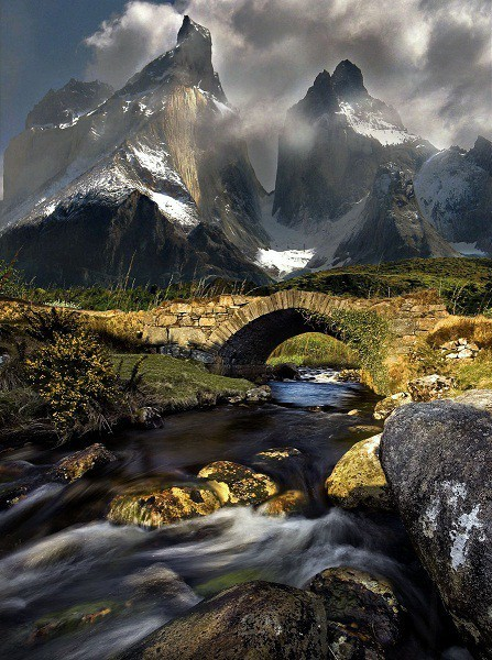 Mountain stream in Torres del Paine, Chile (via Rivers Lakes and Waterfalls)