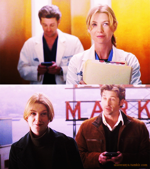 DEREK: Seattle has ferryboats.MEREDITH: Yes?DEREK: l didn't know that. l've been living here six weeks. l didn't know there were ferryboats.MEREDITH: Seattle is surrounded by water on three sides.DEREK: Hence the ferryboats. Now l have to like it here. l wasn't planning on liking it here. l'm from New York. l'm genetically engineered to dislike everywhere, except Manhattan. l have a thing for ferryboats.  DEREK: So, it's intense.This thing l have for ferryboats, l mean.MEREDITH: l'm so taking the stairs this time.DEREK: No self-control. lt's sad. Really.  1x02 The First Cut is the Deepest